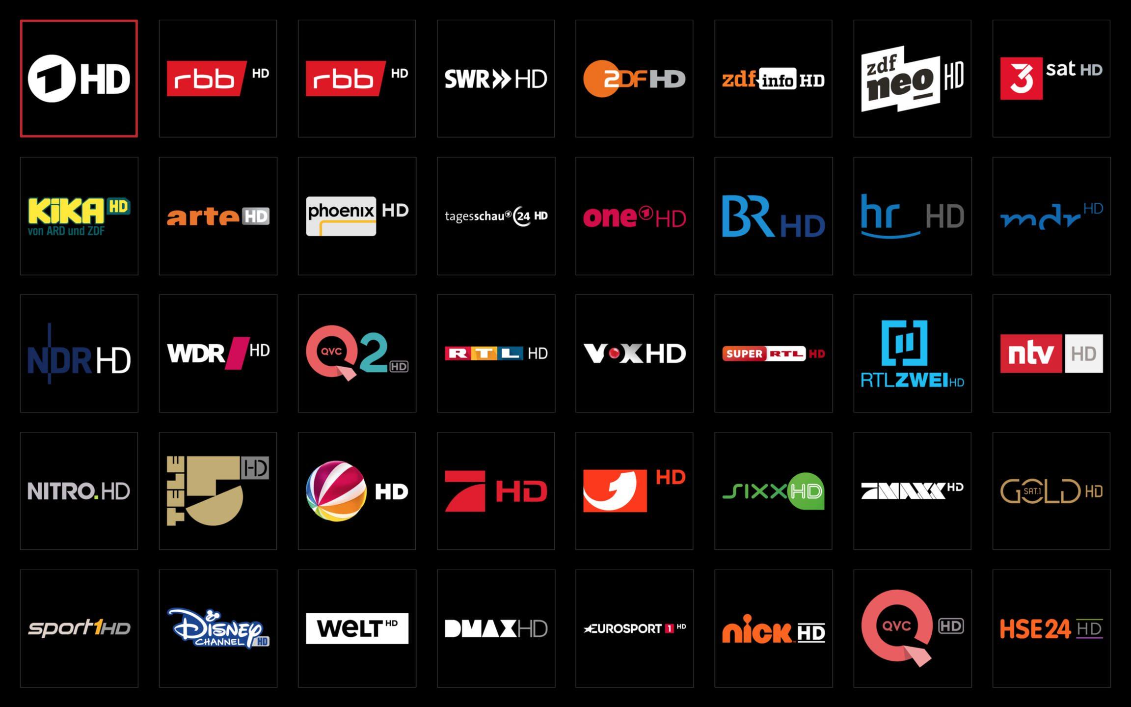 Picons Hell TV-Senderlogos DVB-T2
