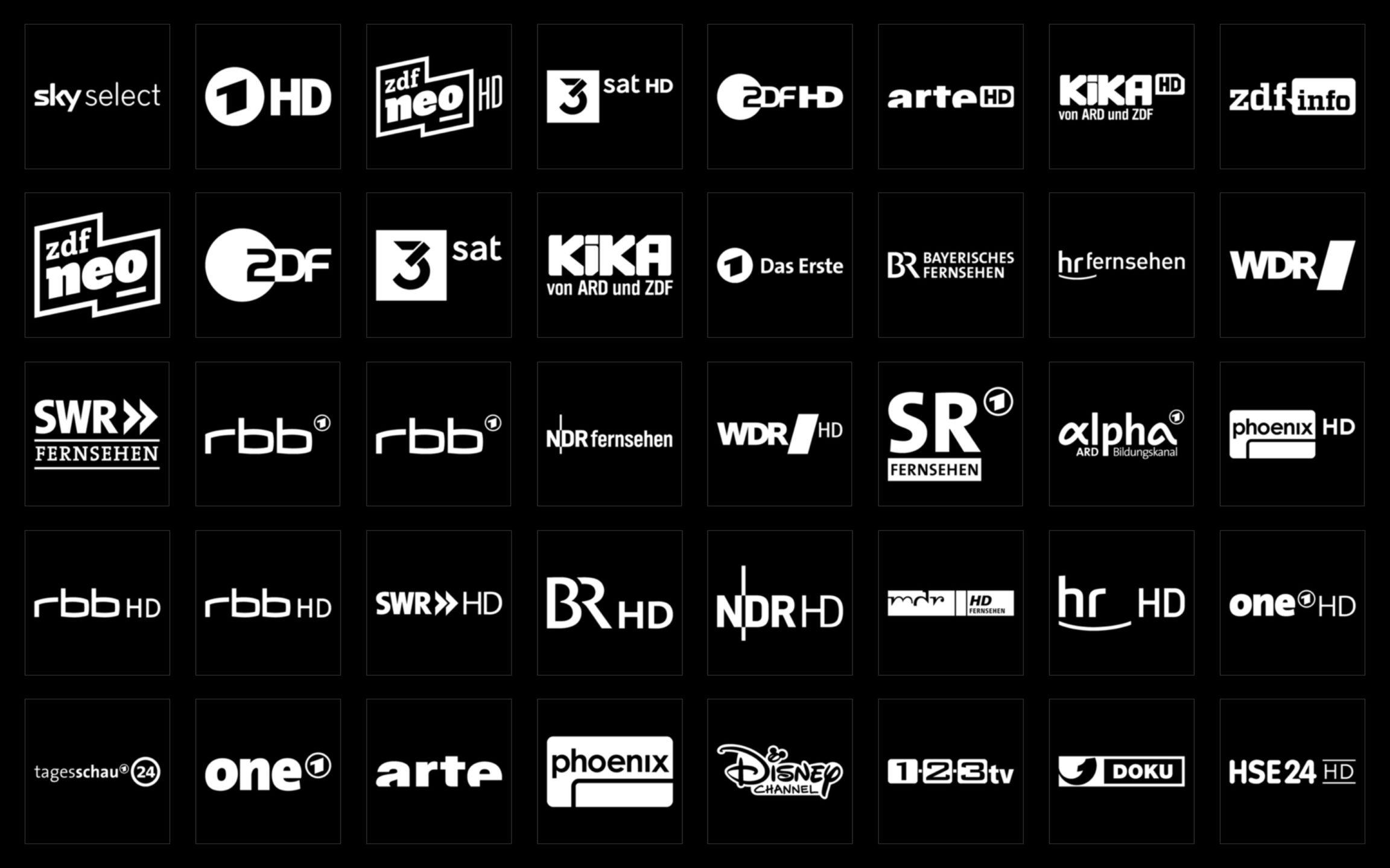 Picons Weiß TV-Senderlogos DVB-C