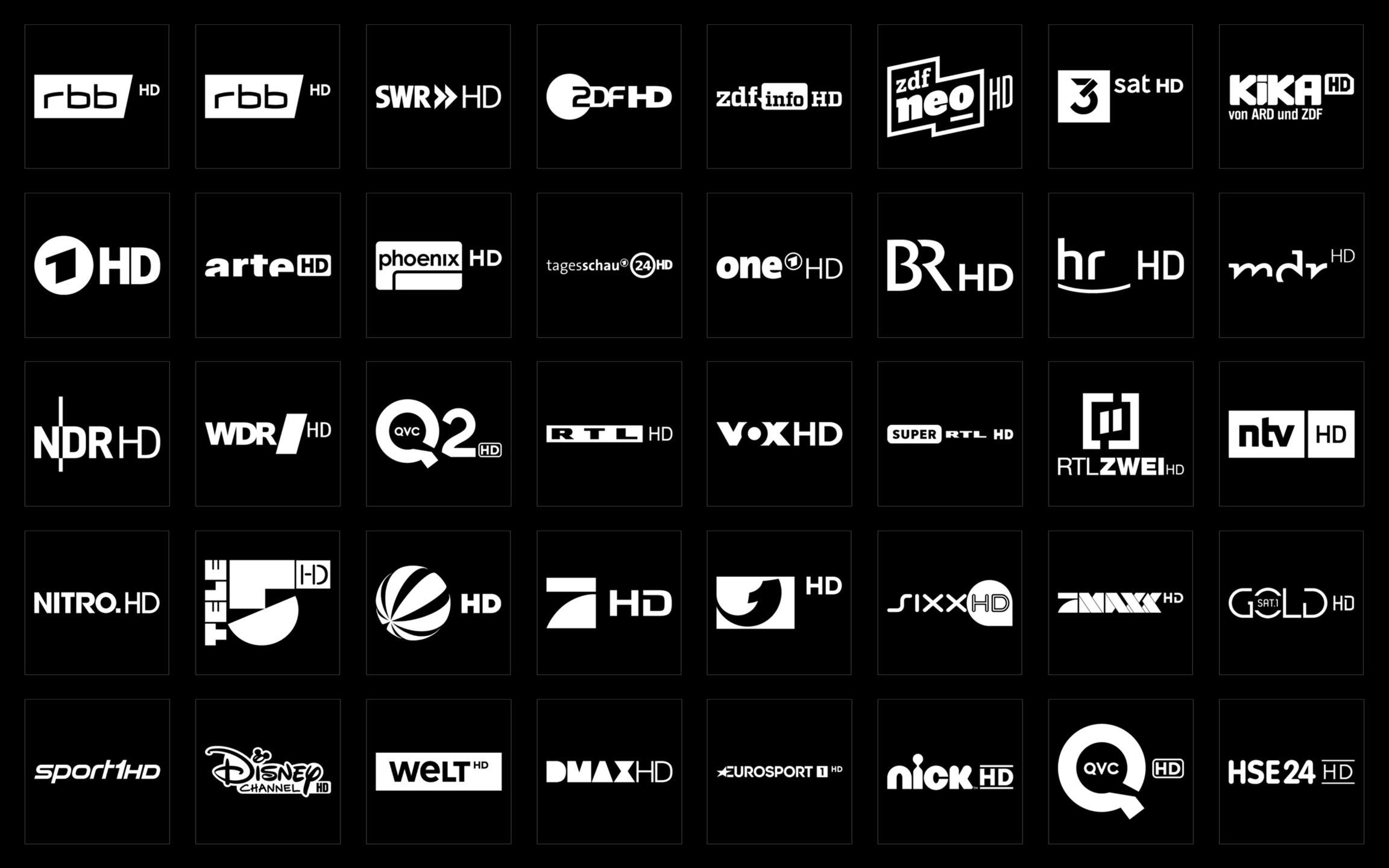 Picons Weiß TV-Senderlogos DVB-T2